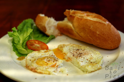 Breakfast with poached eggs - enjoy