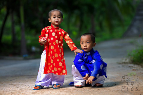 Children with Ao Dai - Vietnam