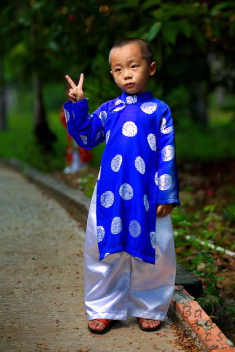 Kid photography - Ao Dai, Vietnam