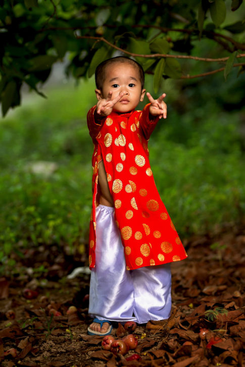 Kid with Ao Dai - Vietnam