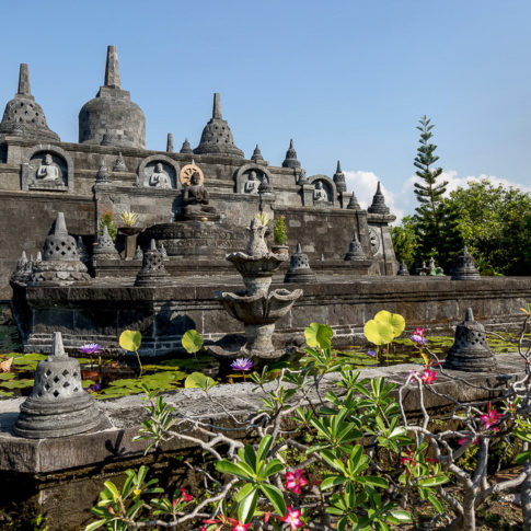 Temple in Bali - outside