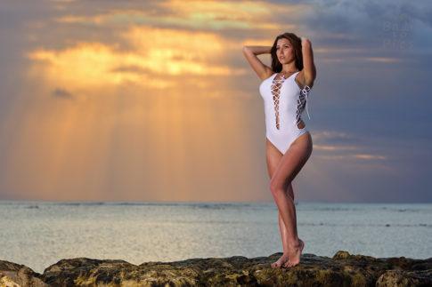 Bali fashion photographer - girl on the rock