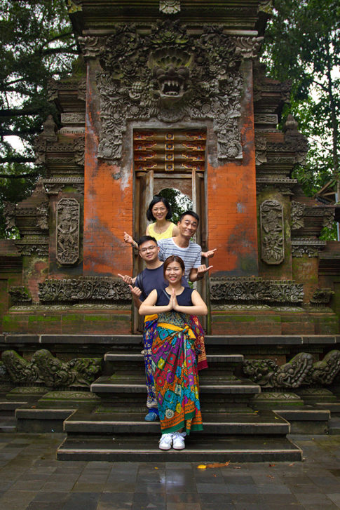 Chinese friends in Tirta Empul temple
