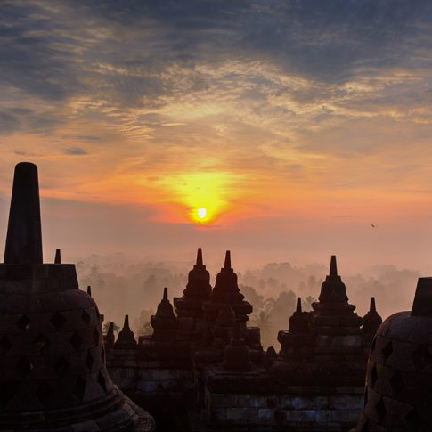 Sunrise Borobudur temple
