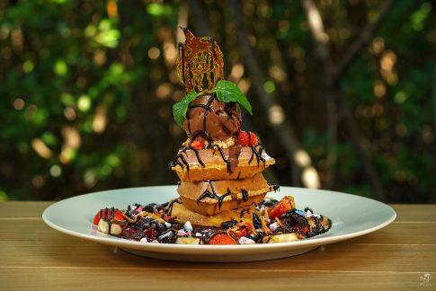 Food photography Bali - waffles with chocolate